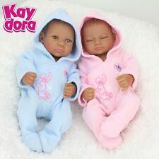 HANDMADE REBORN BABY DOLL TWINS REALISTIC AFRICAN AMERICA BABY GIRL BOY KID GIFT