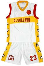Boys CLEVELAND Basketball Sports Vest Top & Shorts Outfit Set 4 to 14 Years