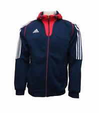 Adidas Mens Hoody Full Zip Sweatshirt Training Athletic Hooded Jacket New