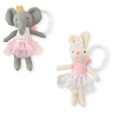 Mud Pie MK7 Baby Girl Princess Knit Stroller Buddy Toy Bunny or Elephant 2112316
