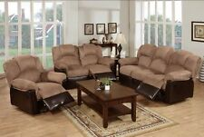 Functionality Saddle & Brown Recliner -3PC, 2PC, Sofa, Loveseat, Chair Options