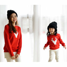 Christmas Family Look Deer Mommy and Me Clothes Matching Family Clothing Sets  F