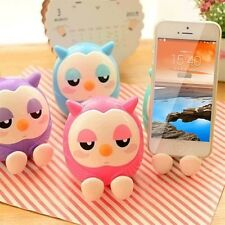 Hot Cute 2 in 1 Phone Stent The Owl Stents Money Box Plastic Holder O6