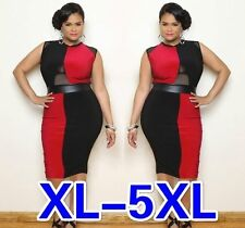 Women Plus Size Sleeveless Panelled Bodycon Dress, Delivery In About 15 Days.