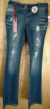 AMETHYST Size CHOICE 5 11 13 Blue Jeans Low Rise Studs & Rhinestones Distressed