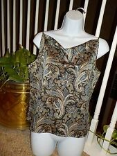 Emanuel Ungaro Liberte Women's Multi Paisley Blouse Size 10/44 Sleeveless Top