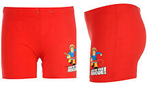BNWT Official FIREMAN SAM 'TO THE RESCUE' Boys Red Shorts/Pyjama Bottoms 2-6yrs