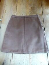 MARKS AND SPENCER CAMEL TAN BROWN WOOL MIX THICK TEXTURED  MINI SKIRT 8 18 BNWT