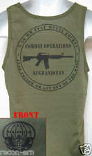 PARARESCUE TANK TOP t-shirt/ AFGHANISTAN COMBAT OPS/ T-SHIRT/ OD GREEN/ MILITARY