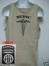 82nd AIRBORNE RANGER tank top T-SHIRT/ COMBAT/  MEDIC  / MILITARY/   NEW