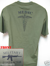 PVT MILITARY CONTRACTOR T-SHIRT/ COMBAT MEDIC/ PMC / NEW
