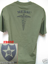 2nd I.D. T-SHIRT/ MEDIC / COMBAT/ MILITARY T-SHIRT/  NEW