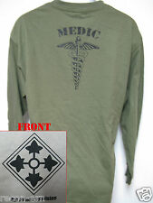 4th I.D. LONG SLEEVE T-SHIRT/ MEDIC / MILITARY/ ARMY / NEW