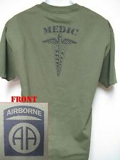 82ND AIRBORNE T-SHIRT/ MEDIC/ COMBAT/ ARMY/ MILITARY/ VETERAN/  NEW