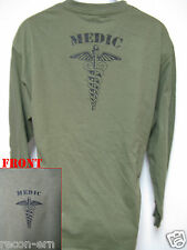 ARMY MEDIC LONG SLEEVE T-SHIRT/ MILITARY / NEW