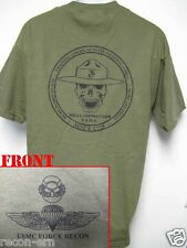 USMC FORCE RECON T-SHIRT/ DRILL INSTRUCTOR T-SHIRT/  NEW