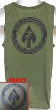 USMC MARSOC OD TANK TOP T-SHIRT/ MILITARY/ THICK/ USMC RECON/ SPECIAL FORCES