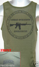 RANGER TANK TOP/AFGHANISTAN COMBAT OPS / OD GREEN/ MILITARY/  NEW