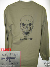 PRIVATE MILITARY CONTRACTOR LONG SLEEVE T-SHIRT/  SKULL DOUBLE TAP/ NEW