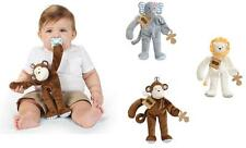 Mud Pie MK6 Safari Animals Baby Boy Pacy Pacifier Clip Plush Cuddlers 2112254