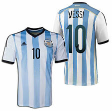 ADIDAS L. MESSI ARGENTINA AUTHENTIC ADIZERO HOME JERSEY WORLD CUP BRAZIL 2014.