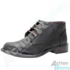New Mens Ricky Faux Leather Mid Lace Up Formal Shoes