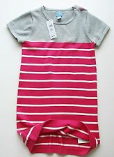 Baby Gap girl's pink striped sweater dress button detail cotton sizes 3 & 4 NWT