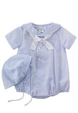 Boys Romper with Hat Nautical Baby Blue Petit Ami Infant NWT Easter