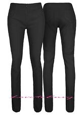 Black School Work Trousers Quality Stretch Fitted Work Pants In 3 Leg Lengths.