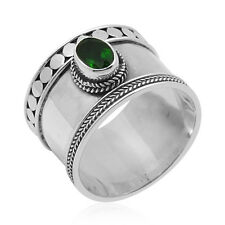 Bali Legacy Crafted Russian CHROME DIOPSIDE RING in Sterling Silver 0.87 Cts.