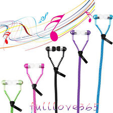 3.5mm In-ear Stereo Headset Earbuds Headphone with Mic Zipper Earphone Hot F6