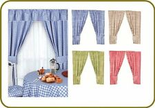 Kitchen Curtains Check Design Gingham 100% Cotton