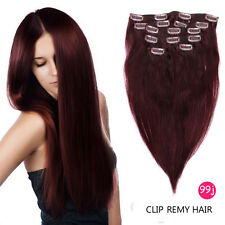 100% Remy Real Human Hair Extensions Full Head 7pcs Clip in Hair Extensions Remy