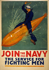 Art print POSTER / Canvas Join the Navy, the service for fighting men
