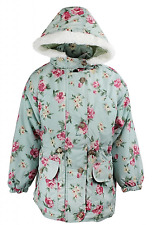 Girls Adams Floral Winter Hooded Coat Ages 6, 7 Years NEW  RRP £23.99-£25.99