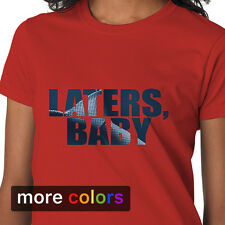 Laters Baby 50 Fifty Shades of Mr Grey Tie Womens T-shirt Tee Handcuffs Red Room