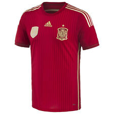ADIDAS SPAIN AUTHENTIC ADIZERO HOME MATCH JERSEY FIFA WORLD CUP BRAZIL 2014.