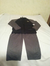 UNDER ARMOUR BOYS TRACK SUIT BLUE GRAY BLACK 4 5  POLYESTER PANTS JACKET