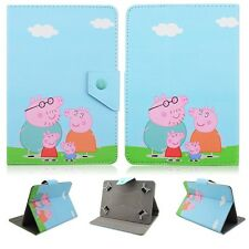 """Kids Pig Stand Folio PU Leather Stand Cover Cases For Universal 7"""" 8"""" 10"""" Tablet"""