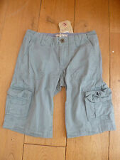 FAT FACE THICK COTTON CARGO SHORTS WITH POCKETS LIGHT MID GREEN HAZE UK 6 XXS