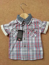 Levis Baby Boys Checked Shirt BNWT Size ; 6 & 12 Mths