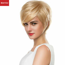 MAYSU Short Human Hair Wigs For Women Short Cut Wigs Human Hair Virgin Hair Wig