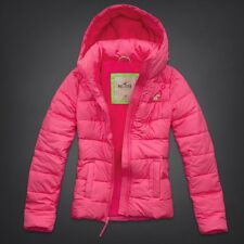 NWT Hollister by Abercrombie&Fitch Lobster Point Jacket Coat Pink M Fleece Lined