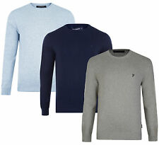 French Connection Men's Regular Fit New Cotton Blend Crew Neck Jumper Sweater