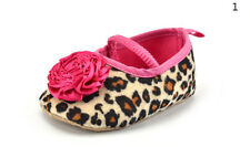 Kids Baby Girls Leopard Shoes Peony Flower Infant Toddler Crib Shoes TSC