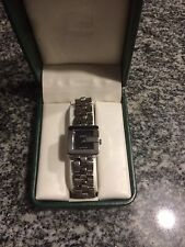 Gucci Women's Silver Watch with Black Face