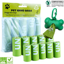 100/200 Counts Dog Poop Bags- Large, Green, Unscented Dog Pet Outdoor Waste Bags