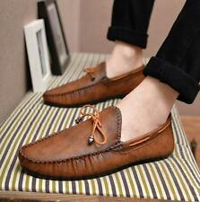 Mens Slip On loafer Retro Vintage Flat Moccains Driving Casual flat Shoes