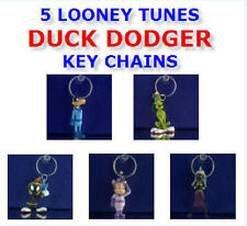 NEW LOONEY TUNES DUCK DODGERS KEY CHAIN RING BACKPACK ZIPPER PULLS YOU PICK ONE!