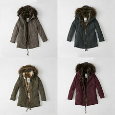 NWT Abercrombie&Fitch Womens Three-In-One Faux Fur Lined Parka Jacket S M L XL